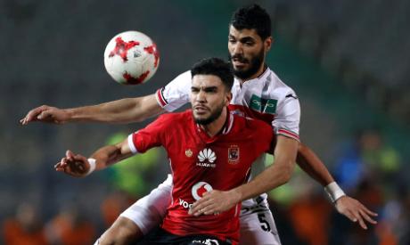 Ahly and Zamalek players (Al-Ahram)