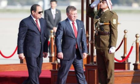 Sisi, King Abdullah II