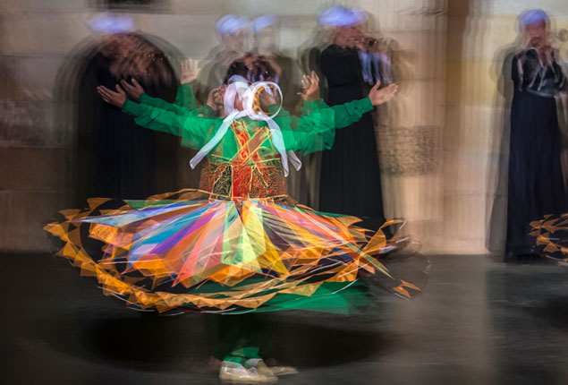 PHOTO GALLERY:  Egyptian dancers perform Tanoura during the holy fasting month of Ramadan