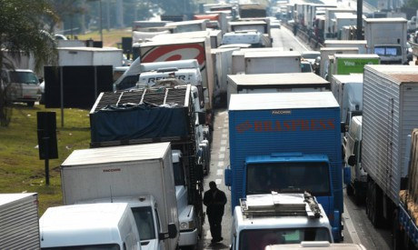 Truckers attend protest in Brazil