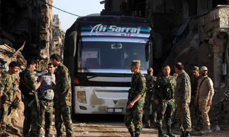 Image result for Syrian rebels prepare to quit south Damascus