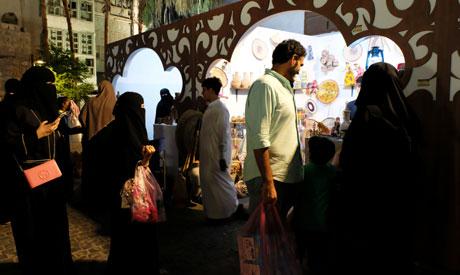 Saudi women attend the Misk Foundation Jeddah Historic Festival in Saudi Arabia May 27, 2018. Pictur