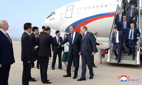 Sergei Lavrov in Pyongyang