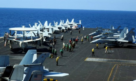 Aircraft transiting the South China Sea