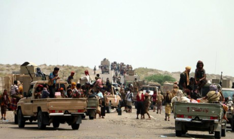 Yemeni forces in Hodeidah