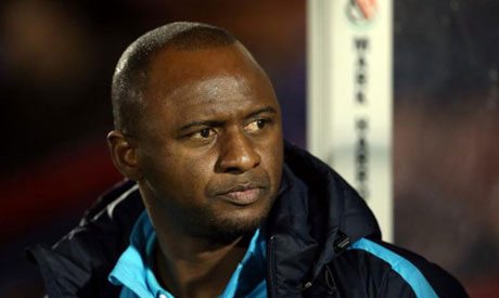 File photo: Manchester City U21 manager Patrick Vieira (Reuters)