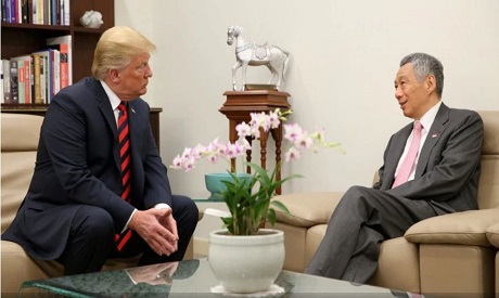 Donald Trump, Lee Hsien Loong