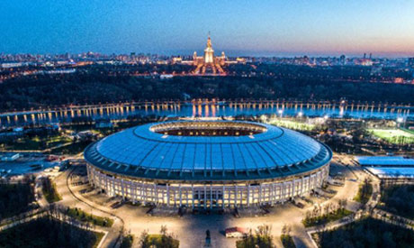 The Luzhniki is one of two World Cup stadiums in congested Moscow (AFP)