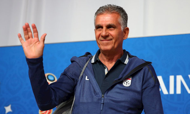 Iran coach Carlos Queiroz during the press conference