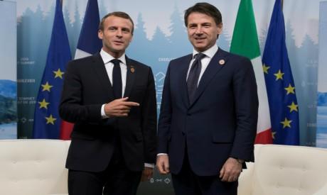 Emmanuel Macron - Giuseppe Conte