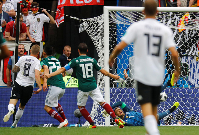 PHOTO GALLERY: Mexico stun holders Germany in World Cup