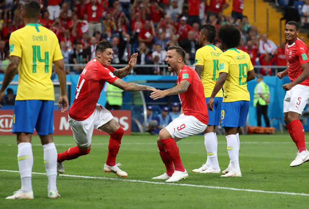 PHOTO GALLERY: Switzerland hold Brazil to surprise draw in World Cup