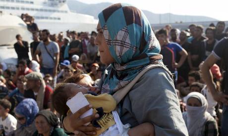 Migrant woman