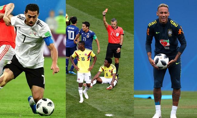 Ahmed Fathy, Carlos Sanchez and Neymar