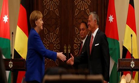 Merkel-King Abdullah