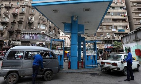 Gas station in Cairo