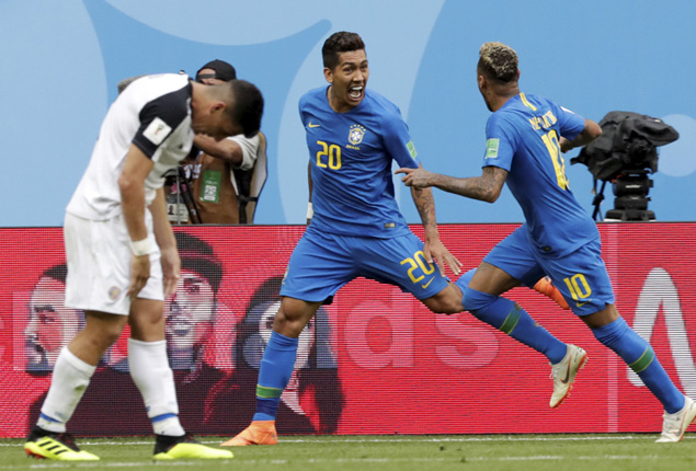 PHOTO GALLERY: Brazil torment Costa Rica in stoppage time