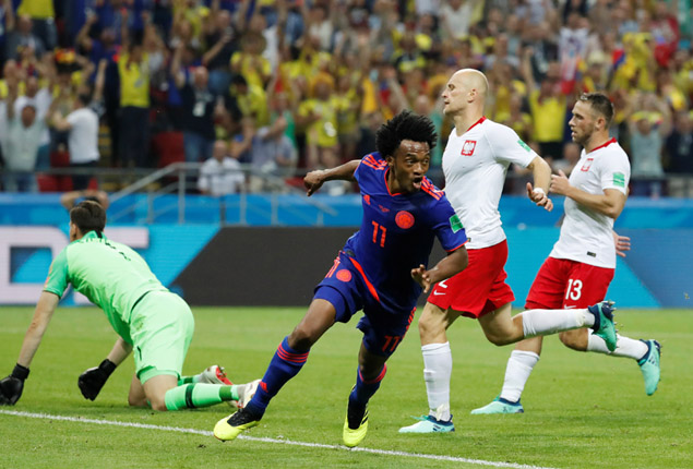 PHOTO GALLERY: Colombia beat Poland 3-0 to knock them out of World Cup