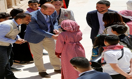 Prince William in Jordan