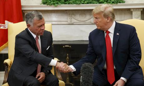 Donald Trump, King Abdullah II