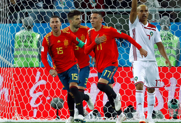 PHOTO GALLERY: Morocco hold Spain to a 2-2 draw