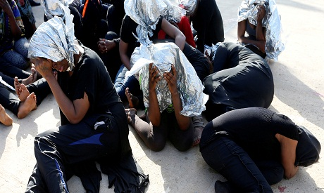 Migrants saved in Libya