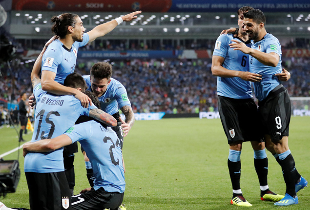 PHOTO GALLERY: Uruguay reach World Cup last 8 with 2-1 win over Portugal