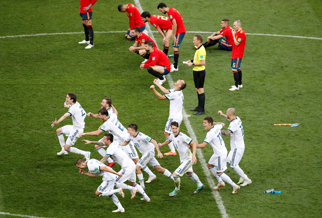 PHOTO GALLERY: Hosts Russia knock Spain out of World Cup