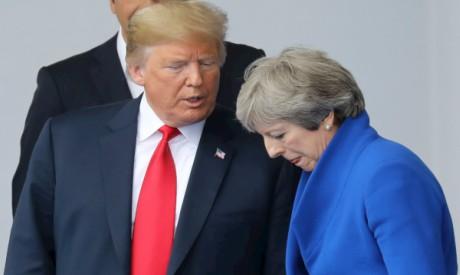 Donald Trump, Theresa May