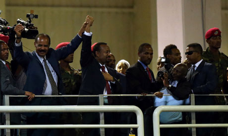 Isaias Afwerki and  Abiy Ahmed