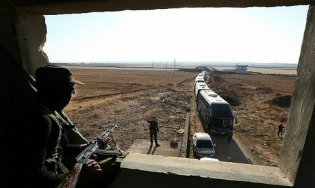 Evacuated Syrians