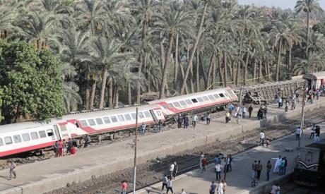 Derailed train in Badrashin