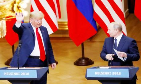 Trump and Putin in Helsinki summit