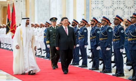 Mohammed bin Zayed al-Nahyan and Xi Jinping
