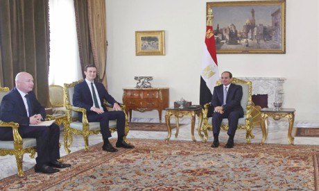 Al-Sisi, Jared Kushner, Jason Greenblatt