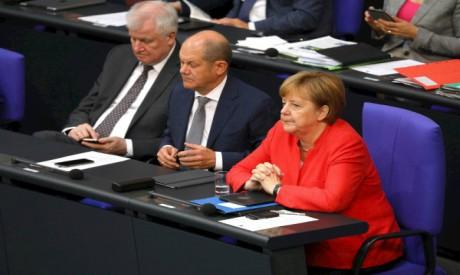 Horst Seehofer, Olaf Scholz, Angela Merkel