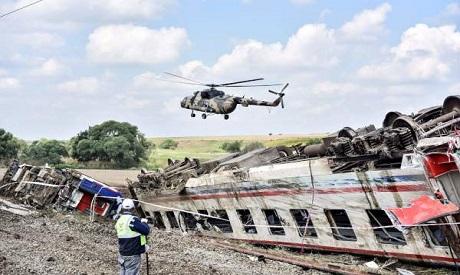 Train derailed at Corlu district