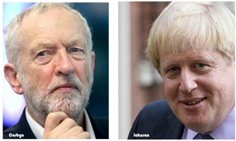 Corbyn, Johnson