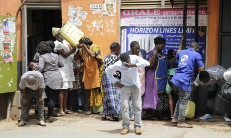 Ugandan shop traders