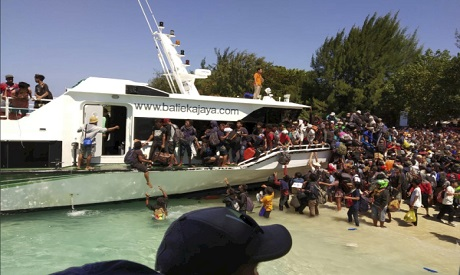 Tourists evacuated to Indonesia