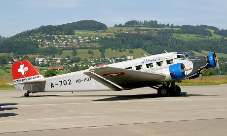 Ju-52 airplane