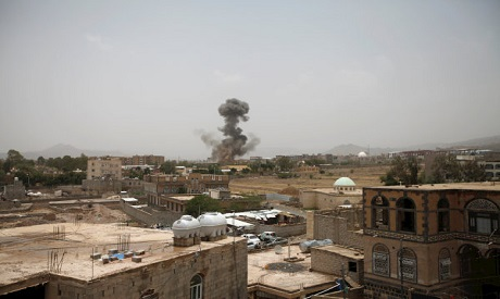 Airstrike in Sanaa, Yemen