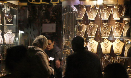 Gold shop in Khan el-Khalili