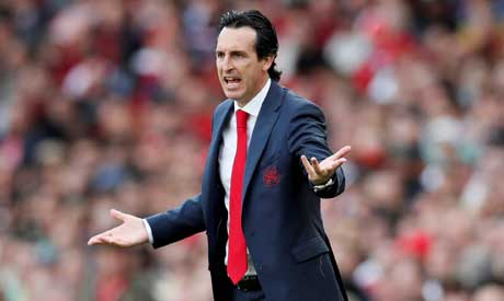 Arsenal manager Unai Emery (Reuters)