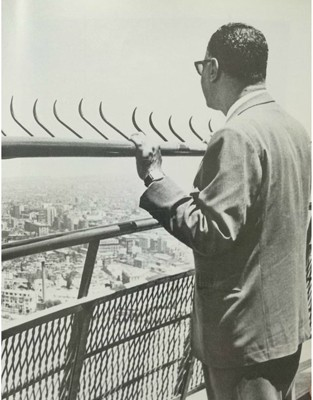 Nasser in Cairo Tower