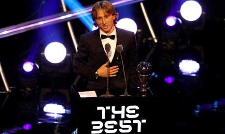 Modric after winning the Best Men