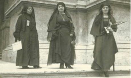 Nabawiya Moussa, Hoda Shaarawi and Saiza Naharawi