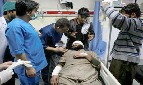 Afghan Injured man