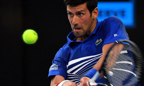 Novak Djokovic faces a tougher challenge in the second round in the shape of Jo-Wilfried Tsonga (AFP