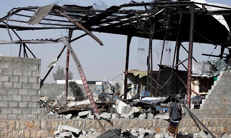 Damage factory in Sanaa